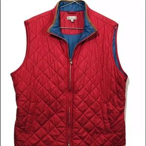 Peter Millar quilted puffed Full Zip Vest XL Coral